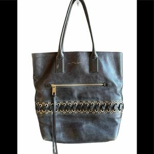 Marc Jacobs The Laces Cargo Black Leather Tote